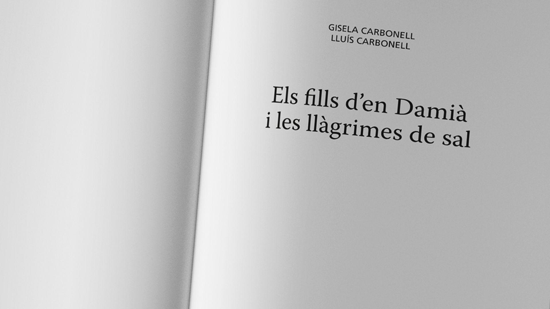 """""""Els fills d'en Damià i les llàgrimes de sal"""", Gisela y Lluís Carbonell"""