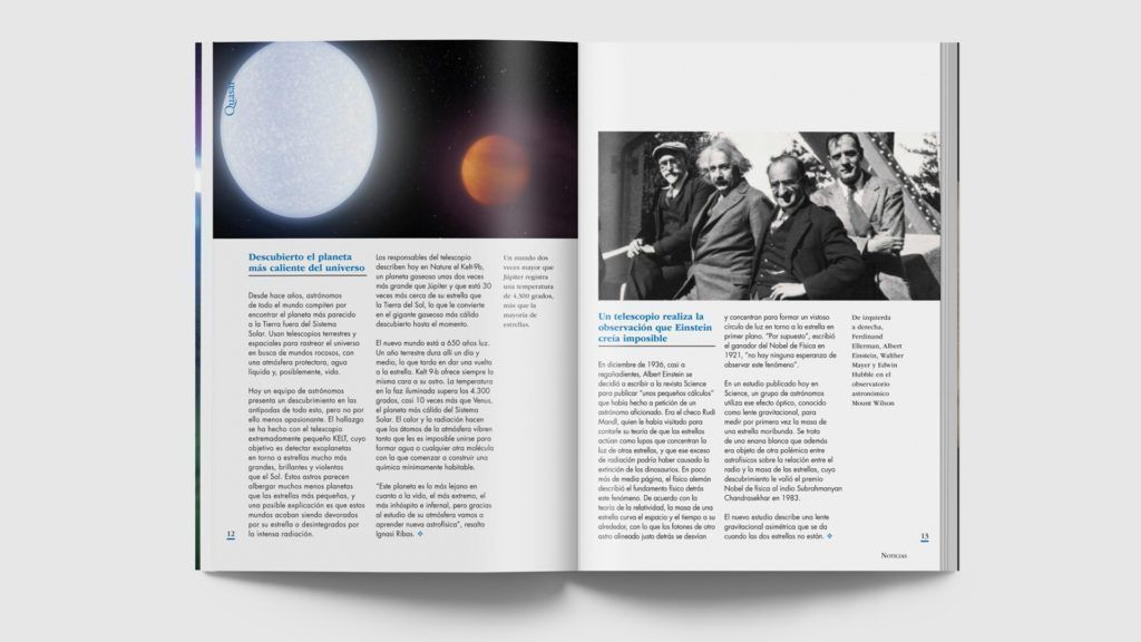Ejemplo de páginas de la revista Quasar