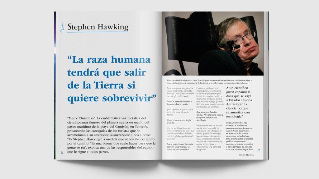 Ejemplo entrevista en revista Quasar