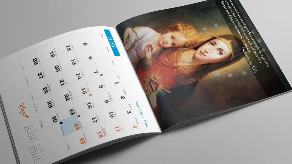 Calendario Mariano de Claret, mes